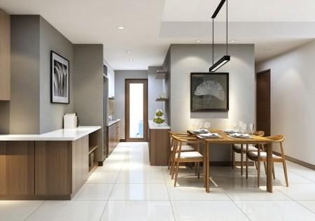 Cần cho thuê căn hộ tầng cao, dt 97m2, 2 PN, có sẵn đồ, Him Lam Chợ Lớn, giá 13 triệu/tháng, 97m2, 3 phòng ngủ, 3 toilet