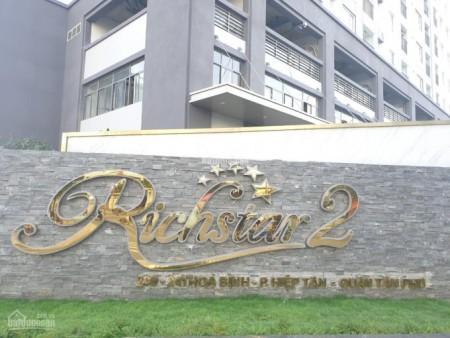 Chủ cần cho thuê căn hộ 2 PN, dt 53m2, giá 13 triệu/tháng. Richstar 2 Tân phú, 53m2, 2 phòng ngủ, 1 toilet