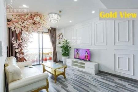 Căn hộ tầng cao 2 PN, giá 14 triệu/tháng. CC The Gold View Quận 4, dt 75m2, 75m2, 2 phòng ngủ, 2 toilet