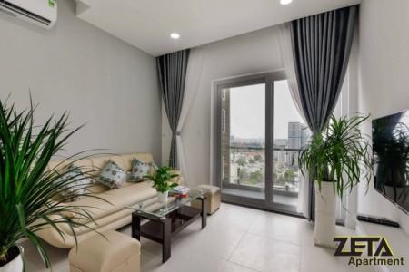 Xi Grand Court cần cho thuê căn hộ 1 PN, đủ đồ dùng, dt 53m2, tầng 18, giá 15 triệu/tháng, 53m2, 1 phòng ngủ, 1 toilet