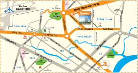 Cho thuê căn hộ 3 phòng ngủ Sunny Plaza Gò Vấp - MT Phạm Văn Đồng, 90m2, 3 phòng ngủ, 2 toilet