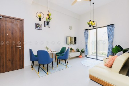 Căn hộ mới 100%, 2PN DT 70m2 đủ tiện nghi tại M - One Gò Vấp, 16 triệu/tháng Tel: 0909053301 Ms. Kim, 70m2, 2 phòng ngủ, 2 toilet