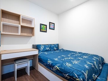 Cho thuê căn hộ 56m2, 2 PN, có sẵn nội thất, view sông Sài Gòn, giá 13 triệu/tháng, cc The Tresor, 56m2, 2 phòng ngủ, 1 toilet