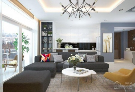 Căn hộ rộng 123m2, 3 PN, có sẵn nội thất, cc Green Valley, tầng cao, giá 26 triệu/tháng, 123m2, 3 phòng ngủ, 2 toilet