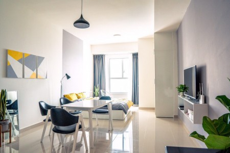 Căn hộ The Park Residence,2pn 1wc giá 9 triệu đủ nội thất- 0909220855, 62m2, 2 phòng ngủ, 2 toilet