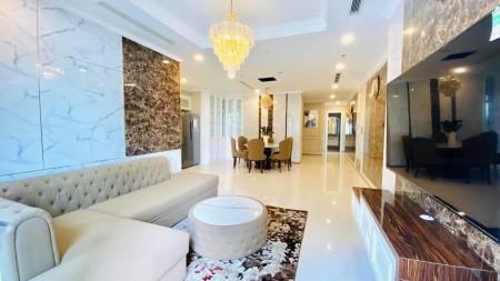 Cho thuê CH Vinhomes Central Park, 4PN, 150m², trực diện sông, nội thất cao cấp hình thật., 150m2, 4 phòng ngủ, 3 toilet