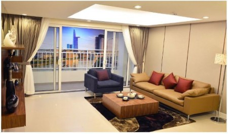 Cho thuê căn hộ chung cư 3 Phòng ngủ thuộc dự án chung cư The Tresor tại Đường Bến Vân Đồn Quận 4, 120m2, 3 phòng ngủ, 2 toilet