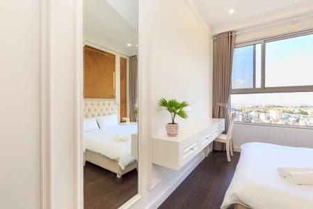 Cho thuê ngay căn hộ Richmond City, 3PN, 2WC, nhà trống, 86m2. Giá 14 triệu/tháng, 86m2, 3 phòng ngủ, 2 toilet