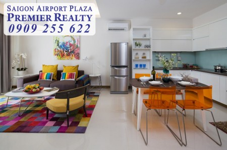 Cho thuê căn hộ chung cư Saigon Airport, 3pn - nội thất hiện đại, căn góc, giá hấp dẫn. Hotline Pkd 0909 255 622, 125m2, 3 phòng ngủ, 2 toilet