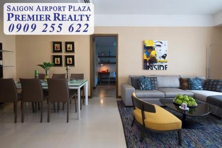 Cho thuê căn hộ chung cư 2pn tại Sài Gòn Airport Plaza, nt cao cấp, giá cực kì ưu đãi. Hotline Pkd 0909 255 622, 95m2, 2 phòng ngủ, 2 toilet