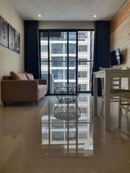 Cho thuê căn hộ 1 phòng ngủ 1 phòng vệ sinh, vị trí tầng cao nhìn view toàn cảnh siêu đẹp, nội thất đầy đủ., 48m2, 1 phòng ngủ, 1 toilet