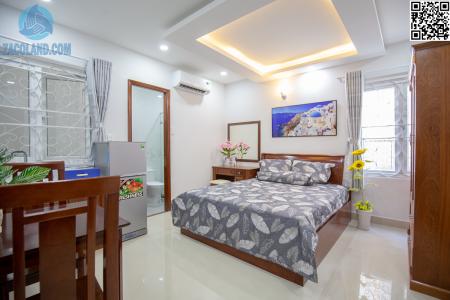 Căn hộ cửa sổ thoáng mát CMT8 6 tr Full nội thất, 30m2, 1 phòng ngủ, 1 toilet