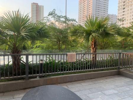 Cho thuê căn hộ Sân Vườn căn hộ 75m2, sân vườn 30m2, 2pn 2wc, đầy đủ nội thất. O9I886O3O4, 105m2, 2 phòng ngủ, 2 toilet
