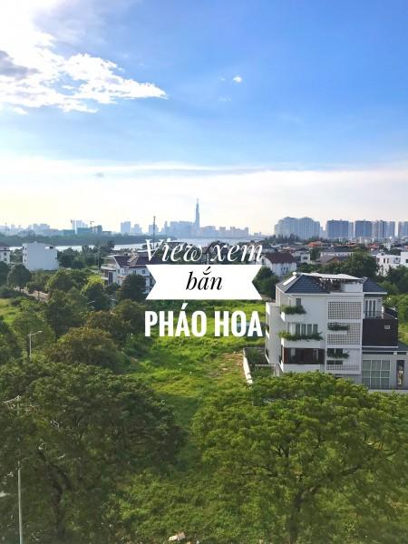 Cho thuê officel Thủ Thiêm Dragon xanh mát, 35m2, 1 phòng ngủ, 1 toilet