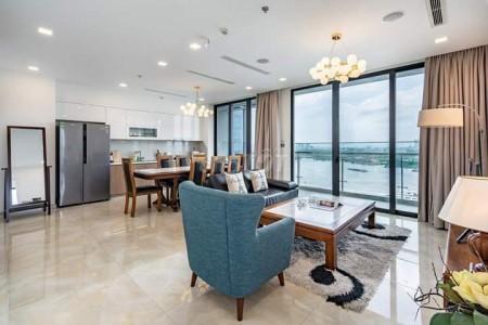 Cho thuê căn hộ cao cấp 3PN tại chung cư Vinhomes Golden River Ba Son ngay trung tâm Quận 1, 120m2, 3 phòng ngủ, 2 toilet