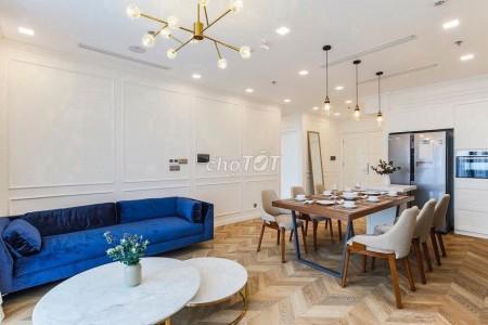 Tại cc cao cấp Vinhomes Golden River Ba Son cho thuê căn hộ 3PN, 2WC, Full nội thất, 109m2, 3 phòng ngủ, 2 toilet