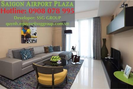 Cho Thuê Căn Hộ chung cư Sài Gòn Airport Plaza 3pn_125m2, Cạnh Sân Bay, Nội Thất Châu Âu. Hotline PKD SSG 0908 078 995, 125m2, 3 phòng ngủ, 2 toilet