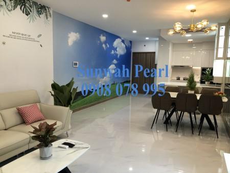 Thuê ngay căn hộ 1PN Sunwah Pearl full nội thất, view sông Sài Gòn. Hotline 0908078995, 55m2, 1 phòng ngủ, 1 toilet