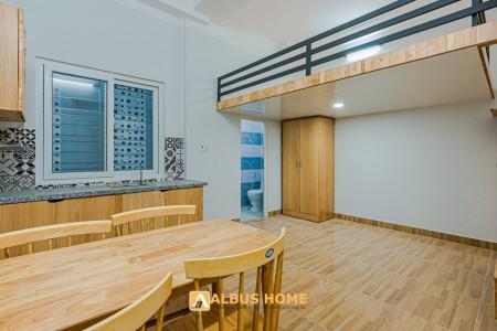 Căn hộ có gác full nội thất gần BigC Phú Thạnh, 30m2, 1 phòng ngủ, 1 toilet