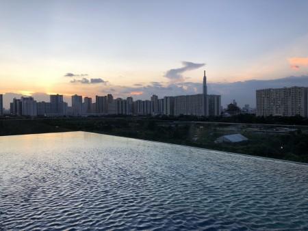 2 phòng ngủ,full nội thất dự án THE SUN AVENUE (mặt tiền Mai Chí Thọ Q2) cho thuê 15 triệu bao phí, 75m2, 2 phòng ngủ, 2 toilet