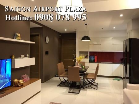 Sài Gòn Airport Plaza_Cho thuê Căn hộ chung cư 2PN, full nội thất chỉ 17 triệu. Hotline PKD SSG 0908 078 995, 95m2, 2 phòng ngủ, 2 toilet