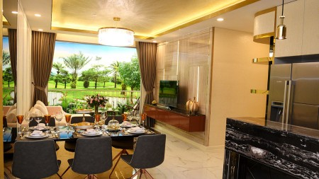Căn hộ river Panorama tầng trung có nội thất cho thuê 8tr.1 thàn, 55m2, 2 phòng ngủ, 1 toilet