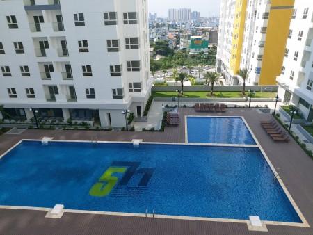 Cho thuê Diamond Riverside 2 phòng ngủ block A tầng 22 giá rẻ, 68m2, 2 phòng ngủ, 2 toilet