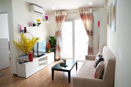 Cho thuê căn hộ Diamond Riverside block c tầng 26 full nội thất, 68m2, 2 phòng ngủ, 2 toilet