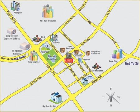 Cho thuê phòng trong chung cư cao cấp quận Thanh Xuân full nội thất - vào ở được ngay, 90m2, 3 phòng ngủ, 2 toilet