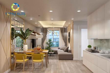 Chính chủ cho thuê căn hộ Topaz Elite quận 8 79m2, 2 phòng ngủ, 2 WC, đã có rèm cửa sổ, giá 8 triệu/tháng. Liên hệ 07787, 79m2, 2 phòng ngủ, 2 toilet