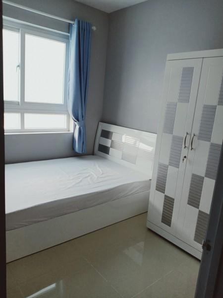 cho thuê căn 2pn có máy lạnh giá 6tr5, 51m2, 2 phòng ngủ, 1 toilet