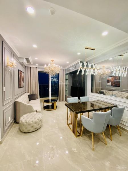 Căn hộ có sẵn nội thất tầng cao cc Sky Center cần cho thuê giá 9 triệu/tháng, dtsd 75m2, 75m2, 2 phòng ngủ, 2 toilet