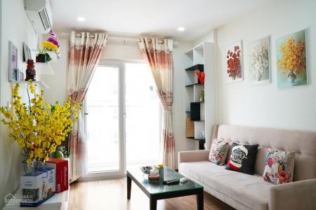 Cho thuê căn 2 PN, dtsd 75m2, tầng cao, gió mát mẻ, cc Xi Grand Court, giá 10 triệu/tháng, 70m2, 2 phòng ngủ, 2 toilet