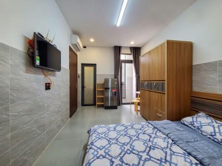 Cho thuê Căn Hộ Giá rẻ Tân Bình Studio Mới| Ban Công| FULL Nội Thất | Ngay Chợ Hoàng Hoa Thám, 30m2, 1 phòng ngủ, 1 toilet