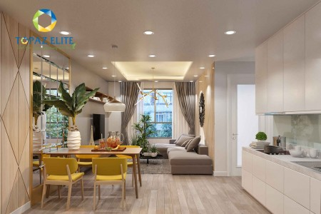 Chính chủ cho thuê căn hộ Topaz Elite quận 8 79m2, 2 phòng ngủ, 2 WC, đã có rèm cửa sổ, giá 8 triệu/tháng., 79m2, 2 phòng ngủ, 2 toilet