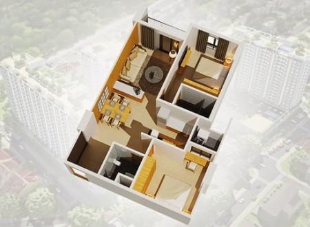 Cần cho thuê nhanh căn hộ chung cư Bộ Công An, Quận 2. Căn dt 70m2, gồm 2PN, 2WC, 70m2, 2 phòng ngủ, 2 toilet