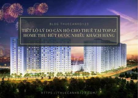 Tiết lộ lý do căn hộ cho thuê tại Topaz Home thu hút được nhiều khách hàng