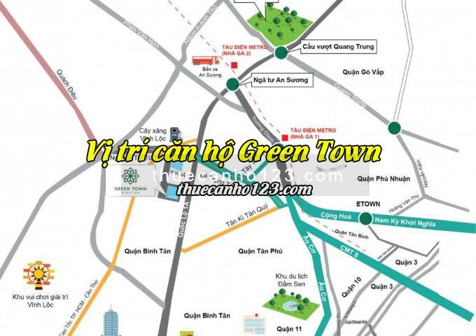 Vị trí căn hộ Green Town Bình Tân