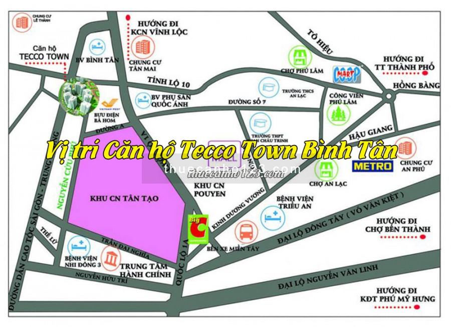 Vị trí căn hộ Tecco Town Bình Tân