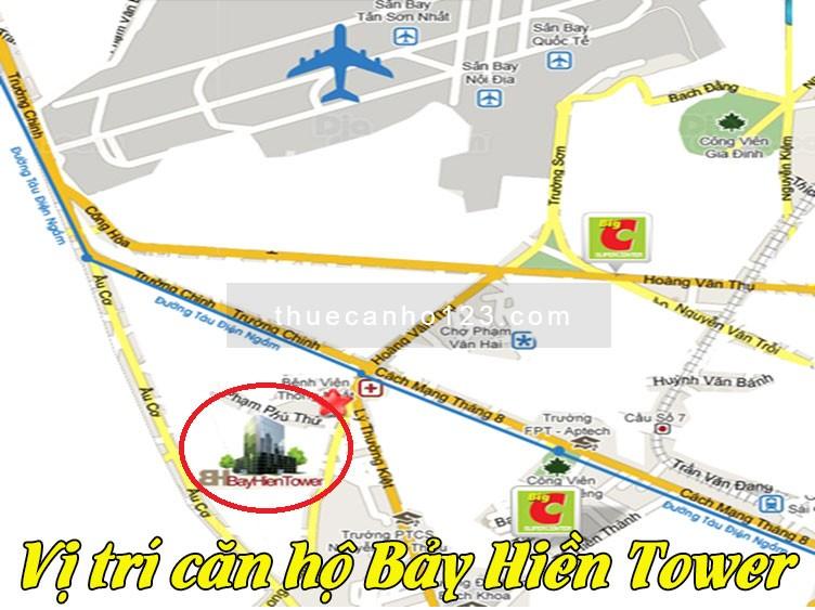 Vị trí căn hộ Bảy Hiền Tower
