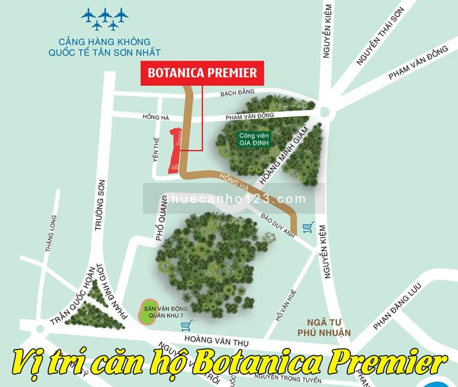Vị trí căn hộ Botanica Premier