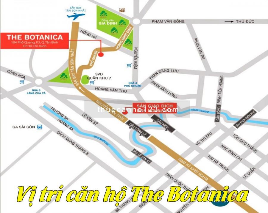Vị trí căn hộ The Botanica