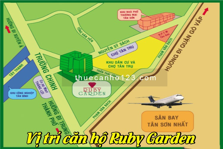 Vị trí căn hộ Ruby Garden